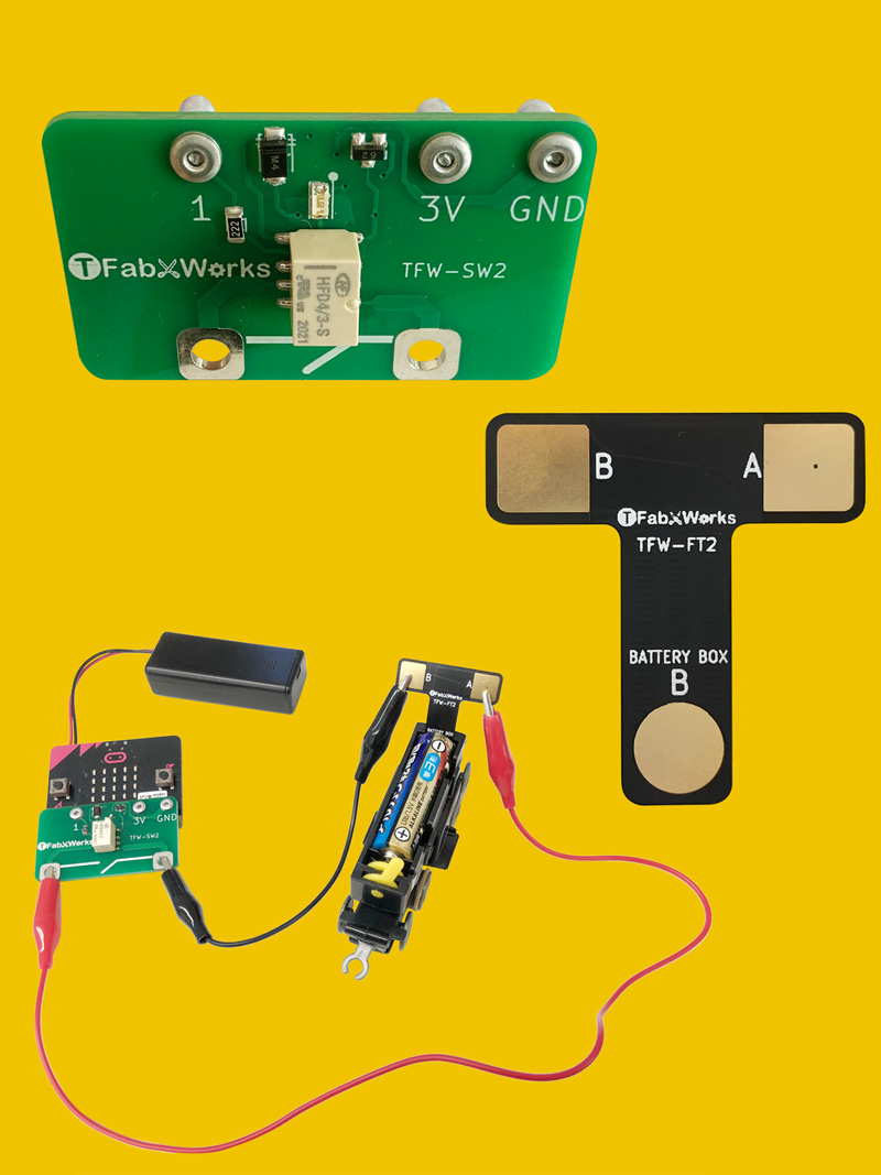 micro:bit用ワンタッチ制御スイッチ(電磁石版)