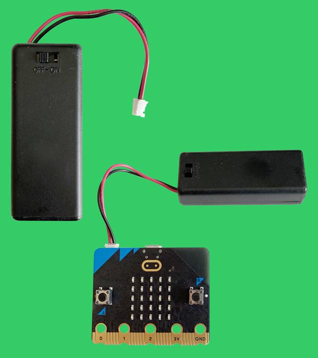スイッチ付き電池ボックス