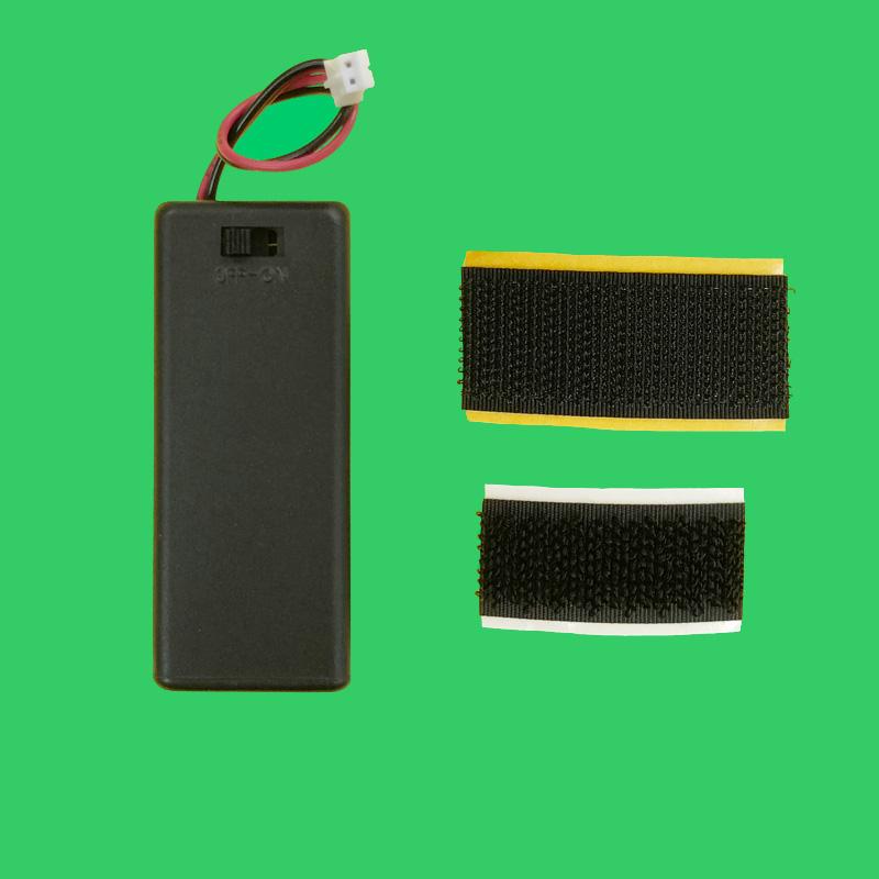 スイッチ付き電池ボックス(合体用マジックテープ付き)