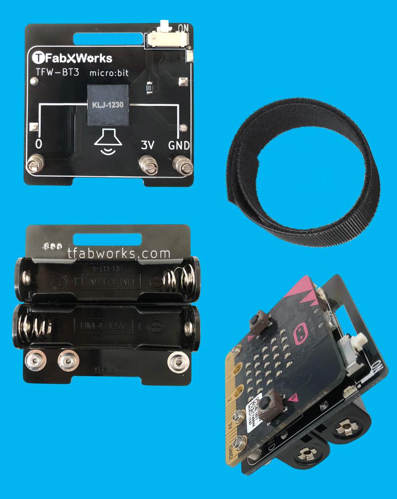 micro:bit用スピーカー付き電池ボックス